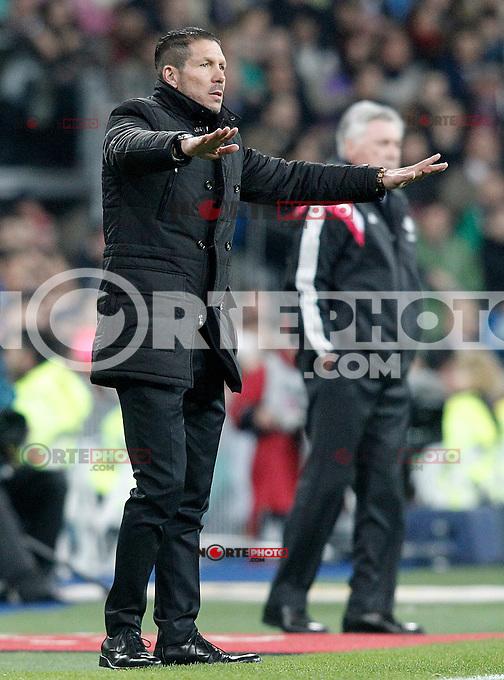 Atletico de Madrid's coach Diego Pablo Cholo Simeone during Spanish King's Cup match.January 15,2015. (ALTERPHOTOS/Acero) /NortePhoto /NortePhoto.com