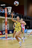 Pulse's Elias Scheres in action during the ANZ Championship - Central Pulse v Adelaide Thunderbirds at Te Rauparaha Arena, Porirua, New Zealand on Sunday 12 June 2016. <br /> Photo by Masanori Udagawa. <br /> www.photowellington.photoshelter.com.