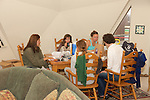 Earthwatchers At Breakfast - Jessica, Katie, Melissa & Jemima