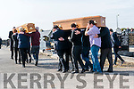 The coffins of William and Daniel Mc Carthy arriving at St. Brendan's Cemetery, Dingle, on Sunday afternoon.