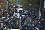 Nottingham Forest fans walking away from the Main Stand at the City Ground, Nottingham after Nottingham Forest hasve played visitors Ipswich Town in an Npower Championship match. Forest won the match by two goals to nil in front of 22,935 spectators.