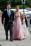 Poppy Delevigne wedding knightsbridge today<br /> <br /> Geri Halliwell arrives with new boyfriend Formula 1 Red Bull boss Christian Horner.<br /> <br /> <br /> <br /> <br /> Pic by Gavin Rodgers/Pixel 8000 Ltd