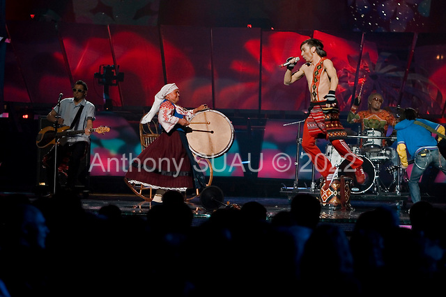 Kiev, Ukraine.July 20, 2005..The band Zdob si Zdub represented Moldova in the Eurovision song contest. They placed 6th.