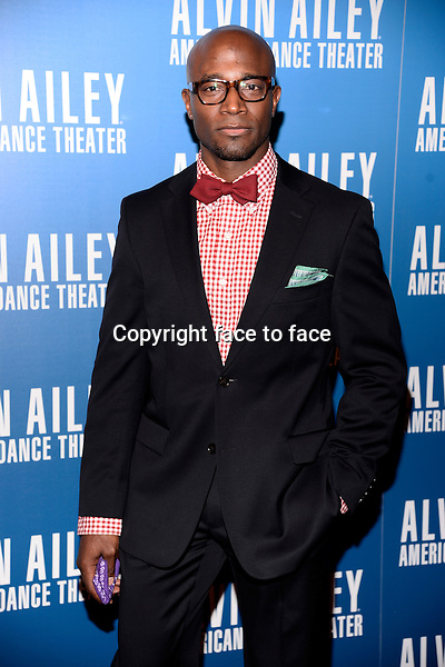 NEW YORK, NY - DECEMBER 04: Actor Taye Diggs pictured at Alvin Ailey's Opening Night Gala at New York City Center, on December 4, 2013 in New York City. Credit: RTNPluvious/MediaPunch Inc.<br />