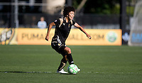 Eriko Arakawa controls the ball. Los Angeles Sol defeated FC Gold Pride 2-0 at Buck Shaw Stadium in Santa Clara, California on May 24, 2009.
