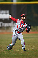 Indiana Hoosiers left fielder Alex Krupa (2) during practice before a game against the Illinois State Redbirds on March 4, 2016 at North Charlotte Regional Park in Port Charlotte, Florida.  Indiana defeated Illinois State 14-1.  (Mike Janes/Four Seam Images)