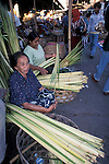 Grass/Reed Sellers in Ubud Market, Bali