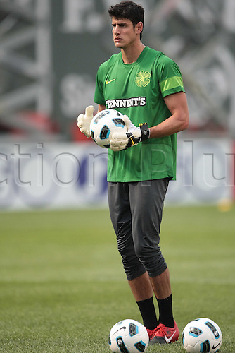 21 JUL 2010:  Celtic's Dominic Cervi (47). Celtic defeated  Sporting Clube de Portugal 6-5 on penalty kicks in an international friendly match, part of the Fenway Football Challenge, at Fenway Park in Boston, Massachusetts on July 21, 2010.