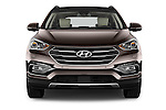 Car photography straight front view of a 2016 Hyundai Santa-Fe Executive 5 Door Suv Front View