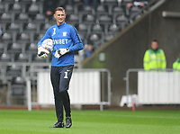 Preston North End's Declan Rudd during the pre-match warm-up <br /> <br /> Photographer Kevin Barnes/CameraSport<br /> <br /> The EFL Sky Bet Championship - Swansea City v Preston North End - Saturday August 11th 2018 - Liberty Stadium - Swansea<br /> <br /> World Copyright &copy; 2018 CameraSport. All rights reserved. 43 Linden Ave. Countesthorpe. Leicester. England. LE8 5PG - Tel: +44 (0) 116 277 4147 - admin@camerasport.com - www.camerasport.com