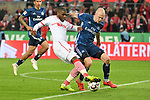 15.04.2019, RheinEnergieStadion, Koeln, GER, 2. FBL, 1.FC Koeln vs. Hamburger SV ,<br />  <br /> DFL regulations prohibit any use of photographs as image sequences and/or quasi-video<br /> <br /> im Bild / picture shows: <br /> Anthony (Toni) Modeste (FC Koeln #27), im Zweikampf gegen  Rick van Drongelen (HSV #4), <br /> <br /> Foto © nordphoto / Meuter