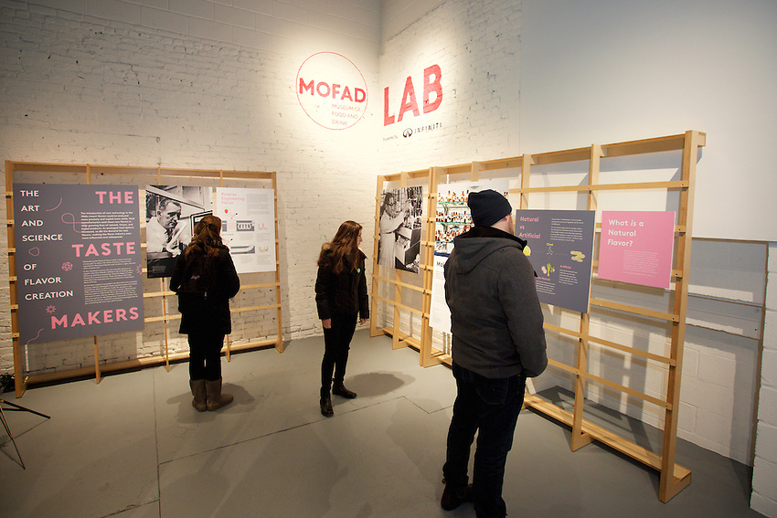 New York, NY - February 19, 2016: The Museum of Food and Drink. <br /> <br /> CREDIT: Clay Williams for The Chatham University Recorder.<br /><br />Clay Williams / claywilliamsphoto.com