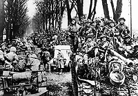 BNPS.co.uk (01202 558833)<br /> JonDiamond/BNPS<br /> <br /> British XXX Corps infantry and armour amassed to the east of Nijmengen. <br /> <br /> Remarkable rarely seen photos of heroic Allied soldiers fighting their way across Europe before crossing the River Rhine 75 years ago feature in a new book.<br /> <br /> They are published in Images of War, Montgomery's Rhine Crossing, which tells the story of the legendary offensive, nicknamed Operation Plunder, in March 1945.<br /> <br /> On the night of March 23, Field Marshal Bernard Montgomery's 21st Army Group launched a massive artillery, amphibious and airborne assault to breach the historic defensive water barrier protecting northern Germany.<br /> <br /> At the same time, the Americans, with the support of the British 6th Airborne Division, set in motion Operation Varsity - involving 16,000 paratroopers - on the east bank of the Rhine. They were dropped here to seize bridges to prevent German reinforcements from contesting the bridgeheads.<br /> <br /> Fierce fighting ensued, with much bloodshed on both sides as the Allies met determined resistance from machine gun nests. But the daring operation proved successful, helping to considerably shorten the war - the Nazis surrendered just six weeks later.