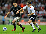 Gareth Barry of England chases down Clint Dempsey of the USA during the Friendly International match at Wembley Stadium, London. Picture date 28th May 2008. Picture credit should read: Simon Bellis/Sportimage