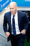 Real Madrid's coach Zinedine Zidane during La Liga match. August 21,2016. (ALTERPHOTOS/Acero)
