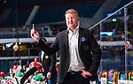 Stockholm 2014-09-27 Ishockey Hockeyallsvenskan AIK - Mora IK :  <br /> Moras assisterande tr&auml;nare P&auml;r Johansson gestikulerar<br /> (Foto: Kenta J&ouml;nsson) Nyckelord:  AIK Gnaget Hockeyallsvenskan Allsvenskan Hovet Johanneshovs Isstadion Mora MIK portr&auml;tt portrait
