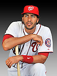 25 February 2011: Washington Nationals' outfielder Michael Morse poses for his Photo Day portrait at Space Coast Stadium in Viera, Florida. Mandatory Credit: Ed Wolfstein Photo