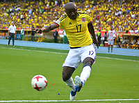 BARRANQUILLA - COLOMBIA -08-10-2015: Pablo Armero jugador de Colombia en acción durante partido entre Colombia y Bolivia por la fecha 13 de la clasificatoria a la Copa Mundial de la FIFA Rusia 2018 jugado en el estadio Metropolitano Roberto Melendez en Barranquilla. / Pablo Armero player of Colombia in action during the match between Colombia and Bolivia for the date 13 of the qualifier to FIFA World Cup Russia 2018 played at Metropolitan stadium Roberto Melendez in Barranquilla. Photo: VizzorImage / Alfonso Cervantes / Cont