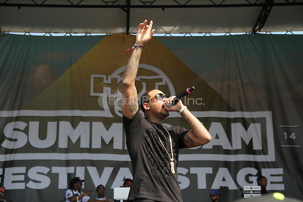 East Rutherford, NJ - June 1, 2014<br /> <br /> Chinx performs at the Hot 97 Summer Jam 2014 concert at Metlife Stadium, June 1, 2014 in East Rutherford, NJ<br /> <br /> <br /> <br />  Walik Goshorn/MediaPunch