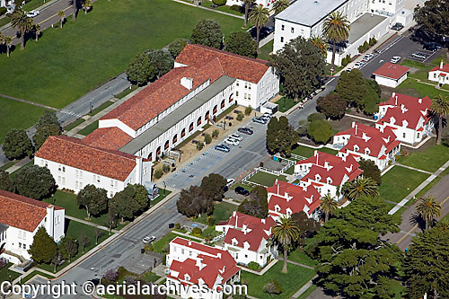 aerial photograph buildings Presidio of San Francisco