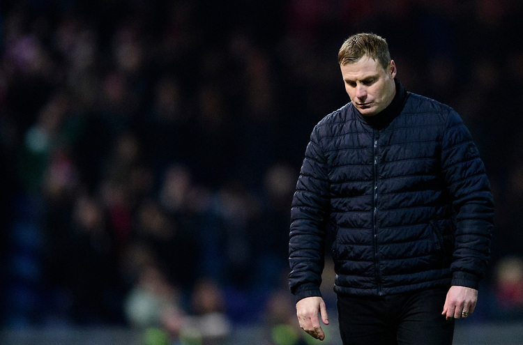 Mansfield Town manager David Flitcroft<br /> <br /> Photographer Chris Vaughan/CameraSport<br /> <br /> The EFL Sky Bet League Two - Mansfield Town v Lincoln City - Monday 18th March 2019 - Field Mill - Mansfield<br /> <br /> World Copyright © 2019 CameraSport. All rights reserved. 43 Linden Ave. Countesthorpe. Leicester. England. LE8 5PG - Tel: +44 (0) 116 277 4147 - admin@camerasport.com - www.camerasport.com