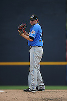 Akron RubberDucks pitcher Louis Head (34) during game against the Trenton Thunder at ARM & HAMMER Park on July 14, 2014 in Trenton, NJ.  Akron defeated Trenton 5-2.  (Tomasso DeRosa/Four Seam Images)