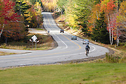 Route 16 in Pinkham Notch during the autumn months in in Green's Grant, New Hampshire USA.