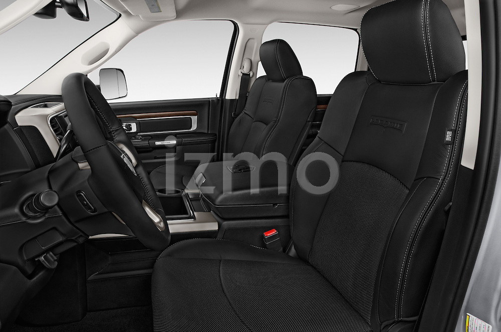 Front seat view of a 2015 Ram 3500 Laramie Mega Cab 4 Door Van front seat car photos