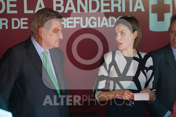 Queen Letizia of Spain and Deputy Congress President Jesus Posada during the Red Cross Fundraising day event (Dia de la Banderita) in Madrid, Spain. October 02, 2015. (ALTERPHOTOS/Victor Blanco)