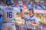 22 June 2013: Los Angeles Dodgers infielder Mark Ellis in action against the San Diego Padres at Petco Park in San Diego, California. The Dodgers defeated the Padres 6-1 in the third game of their 4-game Divisional Series. Mandatory Credit: Ed Wolfstein Photo *** RAW (NEF) Image File Available ***