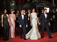 Nicole Sheridan, Taylor Sheridan, Elizabeth Olsen, Julia Jones, Jeremy Renner at the The Square premiere for at the 70th Festival de Cannes.<br /> May 20, 2017  Cannes, France<br /> Picture: Kristina Afanasyeva / Featureflash