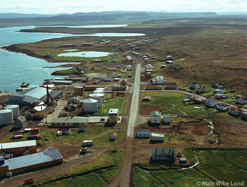Raufarhöfn loftmynd til suðurs /.Raufarhofn aerial viewing south. .Norðurþing / Nordurthing