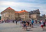 Praga, stolica Czech. 2013-07-23. Kompleks zamku królewskiego na Hradczanach