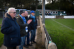 Home supporters watching the first-half action as Nelson hosted Daisy Hill in a North West Counties League first division north fixture at Victoria Park. Founded in 1881, the home club were members of the Football League from 1921-31 and has played at their current ground, known as Little Wembley, since 1971. The visitors won this fixture 6-3, watched by an attendance of 78.