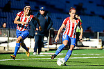 Atletico de Madrid Vaitiare Kenti and Marta Corredera during match of La Liga Femenina between Atletico de Madrid and FC Barcelona at Vicente Calderon Stadium in Madrid, Spain. December 11, 2016. (ALTERPHOTOS/BorjaB.Hojas)