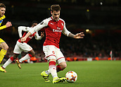 7th December 2017, Emirates Stadium, London, England; UEFA Europa League football, Arsenal versus BATE Borisov; Mathieu Debuchy of Arsenal crossing the ball