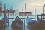gondola's gentle rocking in the water on a winter's morning in venice
