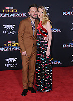 10 October  2017 - Hollywood, California - Chris Hardwick, Lydia Hearst. World Premiere of &quot;Thor: Ragnarok&quot; held at The El Capitan Theater in Hollywood. <br /> CAP/ADM/BT<br /> &copy;BT/ADM/Capital Pictures