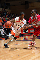 SAN ANTONIO, TX - FEBRUARY 28, 2009: The Lamar University Cardinals vs. The University of Texas at San Antonio Roadrunners Men's Basketball at the UTSA Convocation Center. (Photo by Jeff Huehn)