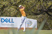 HaoTong Li (CHN) watches his tee shot on 10 during round 1 of the World Golf Championships, Dell Match Play, Austin Country Club, Austin, Texas. 3/21/2018.<br /> Picture: Golffile | Ken Murray<br /> <br /> <br /> All photo usage must carry mandatory copyright credit (&copy; Golffile | Ken Murray)
