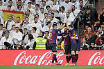 FC Barcelona's team celebrate goal during La Liga match. March 02,2019. (ALTERPHOTOS/Alconada)