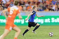 Houston, TX - Sunday August 13, 2017:  Becky Sauerbrunn during a regular season National Women's Soccer League (NWSL) match between the Houston Dash and FC Kansas City at BBVA Compass Stadium.