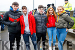 Micky Kennelly, Shane Hughes, Luke Scanlon & Eva Flynn, Lauren Breen attending the NK football final in Listowel.