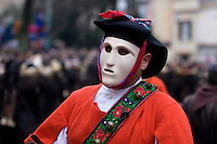 Issadores is a solemn ceremonial, an orderly procession and dance at the same time.Mamoiada, Italy