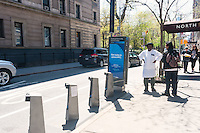 New York, NY - Newly installed BikeShare station on MacDougal Street in Greenwich Village