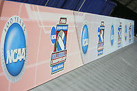 16 December 2006: Banners during Stanford's 2006 NCAA Division I Women's Volleyball Final Four closed practice at the Qwest Center in Omaha, NE.