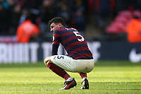 A dejected Fabian Schar of Newcastle United after Tottenham Hotspur vs Newcastle United, Premier League Football at Wembley Stadium on 2nd February 2019