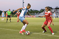 Boyds, MD - Saturday June 03, 2017:  Poliana Barbosa Mediros, Shelina Zadorsky during a regular season National Women's Soccer League (NWSL) match between the Washington Spirit and the Houston Dash at Maureen Hendricks Field, Maryland SoccerPlex