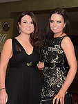 Monessa Keogh and Amy Cullen pictured at the Fingal Harriers Hunt Ball held in the d hotel Drogheda. Photo:Colin Bell/pressphotos.ie