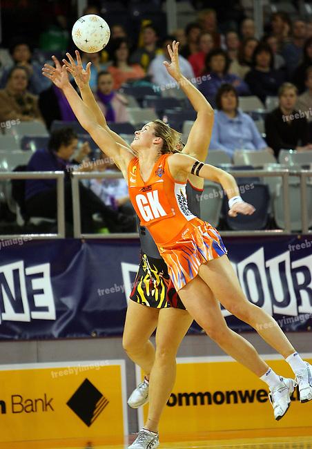 Commonwealth bank Trophy, 29-7-07, Vodafone Arena, Queensland Firebirds defeated Melbourne Kestrels 61-54  Photo:Grant Treeby